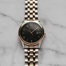 Load image into Gallery viewer, Jean Alexis JARL GST JA114 - Prestige Edition - Rosegold & Silver Stainless Steel Strap - Rosegold Case - Black Dial (40mm)