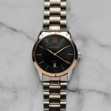 Load image into Gallery viewer, Jean Alexis KIRKWOOD GST JA111 - Prestige Edition - RoseGold & Silver Stainless Steel Strap - RoseGold Case - Black Dial (40mm)