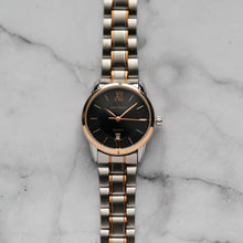 Load image into Gallery viewer, Jean Alexis KIRKWOOD LST JA111 - Prestige Edition - RoseGold & Silver Stainless Steel Strap - RoseGold Case - Black Dial (30mm)
