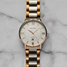 Load image into Gallery viewer, Jean Alexis HOLGER GST JA108 - Prestige Edition - RoseGold & Silver Stainless Steel Strap - RoseGold Case - White Dial (42mm)