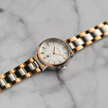 Load image into Gallery viewer, Jean Alexis HOLGER LST JA108 - Prestige Edition - RoseGold & Silver Stainless Steel Strap - RoseGold Case - White Dial (32mm)
