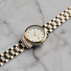Jean Alexis GARTH LKT JA102 - Prestige Edition - Gold & Silver Stainless Steel Strap - Gold Case - White Dial (32mm)