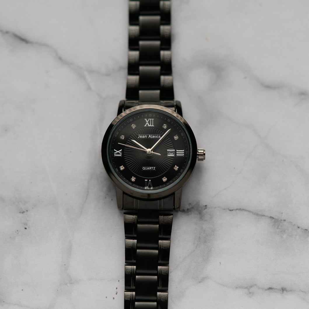 Jean Alexis GARTH LHT JA102 - Prestige Edition - Black Stainless Steel Strap - Black Case - Black Dial (32mm)