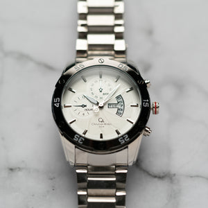 Christyan Arden DAYDATE EDITION CA8604 GTH - White Dial (46mm)
