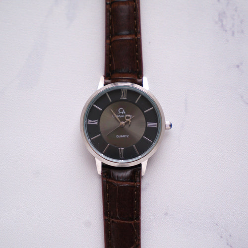 Christyan Arden Full Grain Leather CA0009 Brown - Black Dial (Wanita)