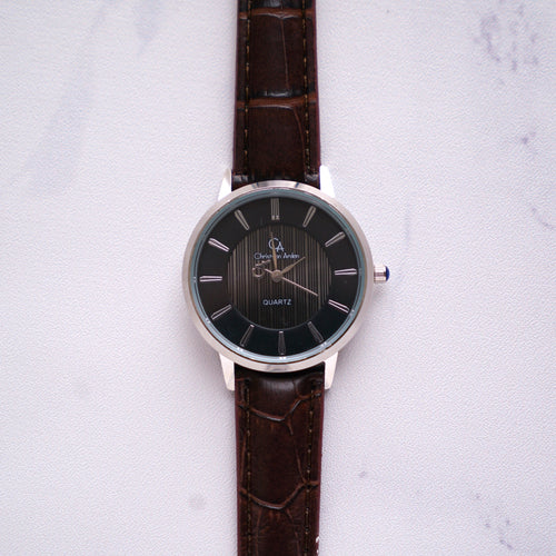 Christyan Arden Full Grain Leather CA0010 Brown - Black Dial (Wanita)