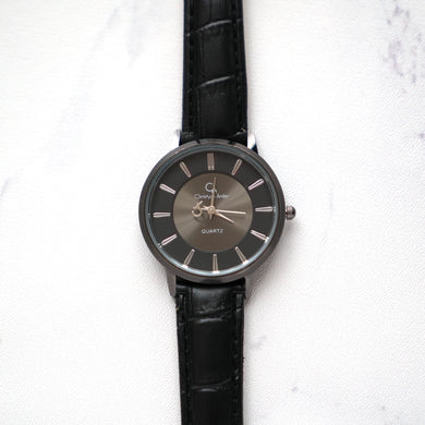 Christyan Arden Leather CA0030 Black - Black Dial (Wanita)