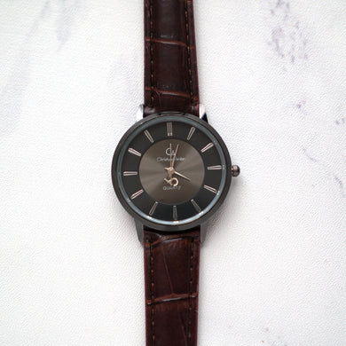 Christyan Arden Leather CA0030 Brown - Black Dial (Wanita)