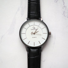 Load image into Gallery viewer, Christyan Arden Full Grain Leather CA0028 Black - White Dial (Wanita)