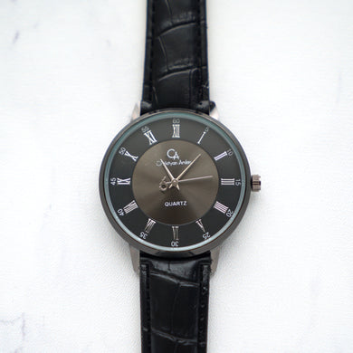 Christyan Arden Leather CA0022 Black - Black Dial (Pria)