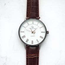 Load image into Gallery viewer, Christyan Arden Full Grain Leather CA0026 Brown - White Dial (Pria)