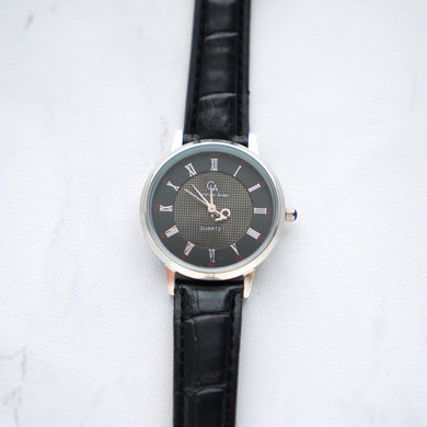 Christyan Arden Leather CA0002 Black - Black Dial (Wanita)