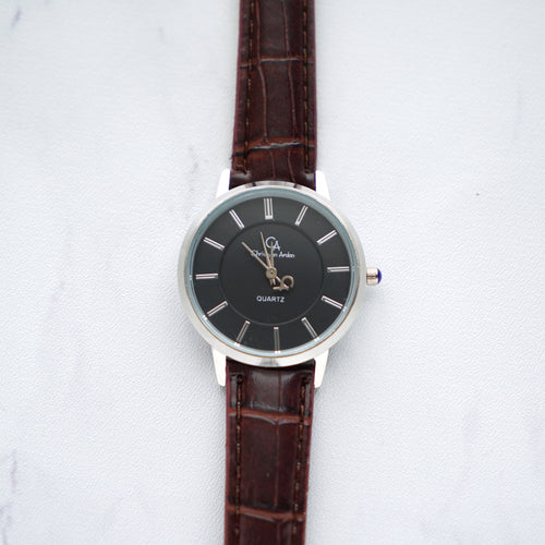 Christyan Arden Full Grain Leather CA0001 Brown - Black Dial (Wanita)