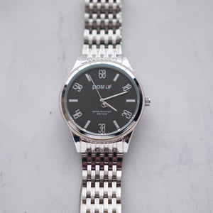 Positif Classic Watch PS7016 Black Dial (Pria)