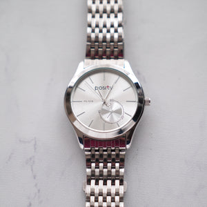 Positif Classic Watch PS7018 White Dial (Pria)