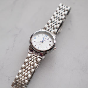 Jean Alexis Luxury Watch LT JA003 White Dial (Wanita) Blue Hands