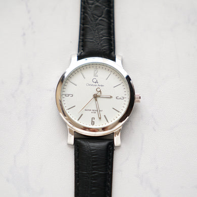 Christyan Arden Original Leather CA4126 Black - White Dial (Pria)