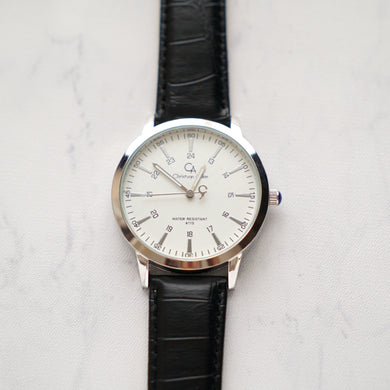 Christyan Arden Original Leather CA4115 Black - White Dial (Pria)