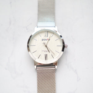 Positif Watch PS-7001 White Dial (Pria)