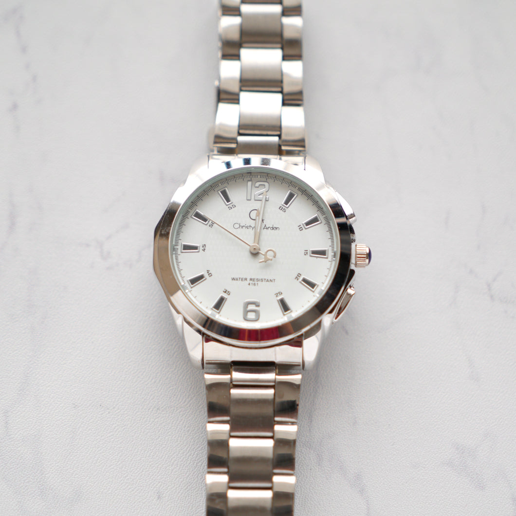 Christyan Arden Luxury Collection CA4161 White Dial (Pria)