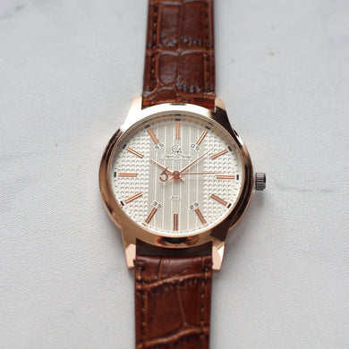 Christyan Arden Original Leather CA8063 Brown - White Dial (Pria)
