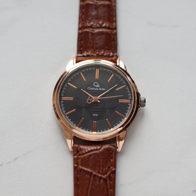 Christyan Arden Original Leather CA8062 Brown - Black Dial (Pria)
