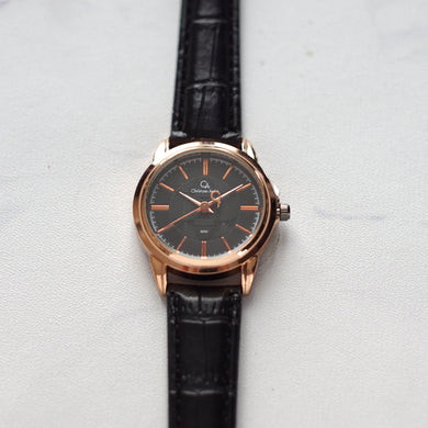 Christyan Arden Original Leather CA8062 Black - Black Dial (Wanita)