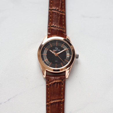 Christyan Arden Original Leather CA1573 Brown - Black Dial (Wanita)