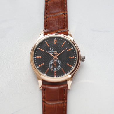 Christyan Arden Original Leather CA8064 Brown - Black Dial (Pria)