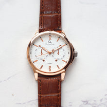 Muat gambar ke penampil Galeri, Christyan Arden Full Grain Leather CA008D Brown - White Dial (Pria)