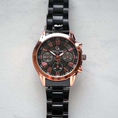 Christyan Arden Luxury Watch CA4059 Black Dial (Pria)