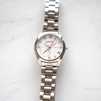 Positif Classic Watch PS-P011A White Dial (Wanita)