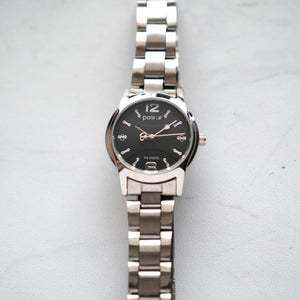 Positif Classic Watch PS-P007G Black Dial (Pria)