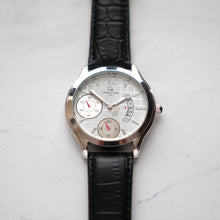 Load image into Gallery viewer, Christyan Arden Full Grain Leather CA1255 Black - White Dial (Pria)
