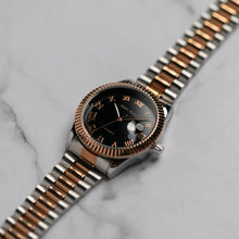 Load image into Gallery viewer, Jean Alexis STEIN GST JA119 - Prestige Edition - RoseGold & Silver Stainless Steel Strap - RoseGold Case - Black Dial (38mm)
