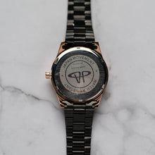 Load image into Gallery viewer, Jean Alexis STEIN GHST JA119 - Prestige Edition - Black Stainless Steel Strap - RoseGold Case - Black Dial (38mm)