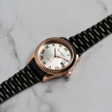 Load image into Gallery viewer, Jean Alexis STEIN GHST JA119 - Prestige Edition - Black Stainless Steel Strap - RoseGold Case - White Dial (38mm)