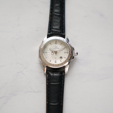 Christyan Arden Original Leather CA8071 Black - White Dial (Wanita)