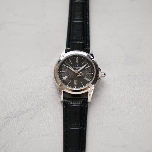 Christyan Arden Original Leather CA1252 Black - Black Dial (Wanita)