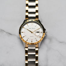 Load image into Gallery viewer, Jean Alexis ODIN GKT JA104 - Prestige Edition - Gold & Silver Stainless Steel Strap - Gold Case - White Dial (43mm)