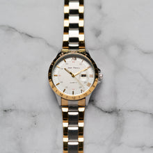 Load image into Gallery viewer, Jean Alexis ODIN LKT JA104 - Prestige Edition - Gold & Silver Stainless Steel Strap - Gold Case - White Dial (33mm)
