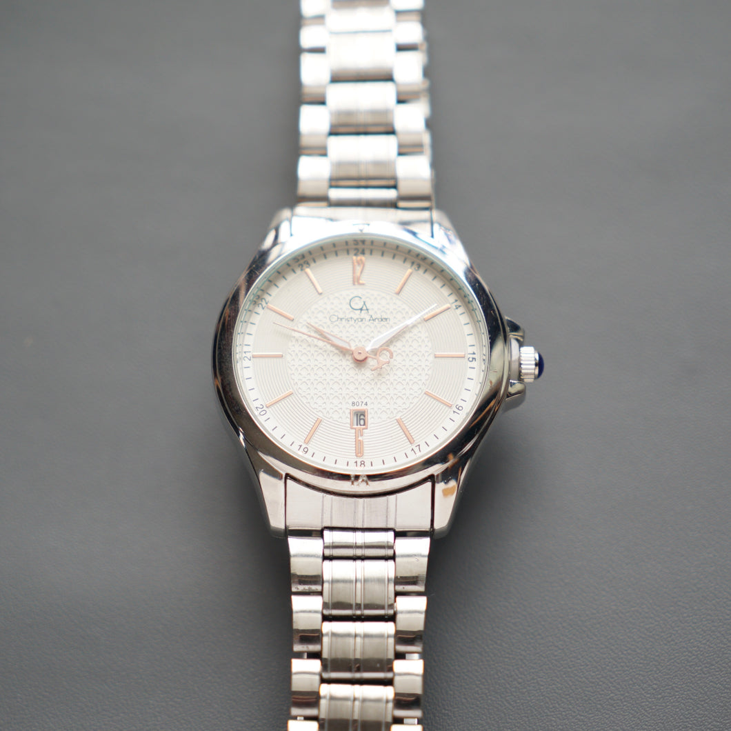 Christyan Arden Luxury Collection CA8074 White Dial (Pria)
