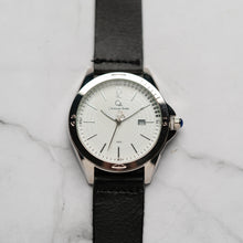 Muat gambar ke penampil Galeri, Christyan Arden Full Grain Leather CA2452 Black - White Dial (Pria)