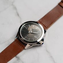 Muat gambar ke penampil Galeri, Christyan Arden Full Grain Leather CA2452 Brown - Black Dial (Pria)