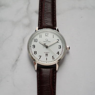 Christyan Arden BELEN CA3106 - Around The World Edition - White Dial - Brown Strap (Pria)