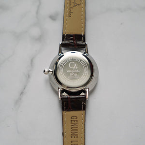 Christyan Arden BELEN CA3106 - Around The World Edition - Black Dial - Brown Strap (Wanita)