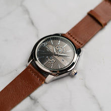 Muat gambar ke penampil Galeri, Christyan Arden Full Grain Leather CA5045 Brown - Black Dial (Pria)