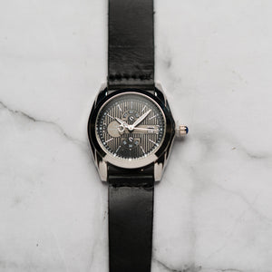 Christyan Arden Full Grain Leather CA5045 Black - Black Dial (Wanita)