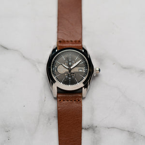 Christyan Arden Full Grain Leather CA5045 Brown - Black Dial (Wanita)