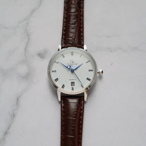 Christyan Arden VASILIOS CA3107 - Around The World Edition - White Dial - Brown Strap (Wanita)